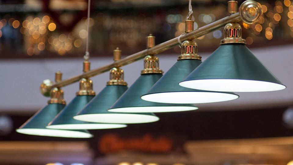 green lamps ceiling lights