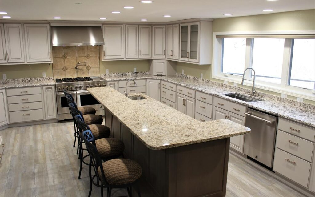 """The Hammans kitchen AFTER the remodel is larger, brighter, and better suited to Mary Kay's """"volume cooking"""" needs, she says. (Submitted Photo)"""