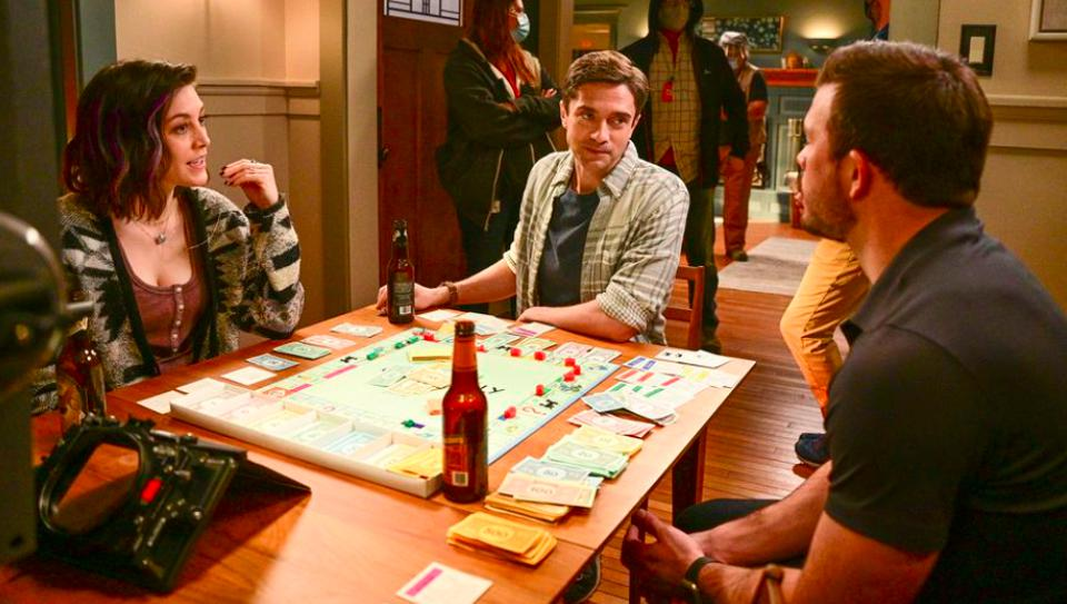 Caitlin McGee, Topher Grace and Jimmy Tatro star in  ″Home Economics.″
