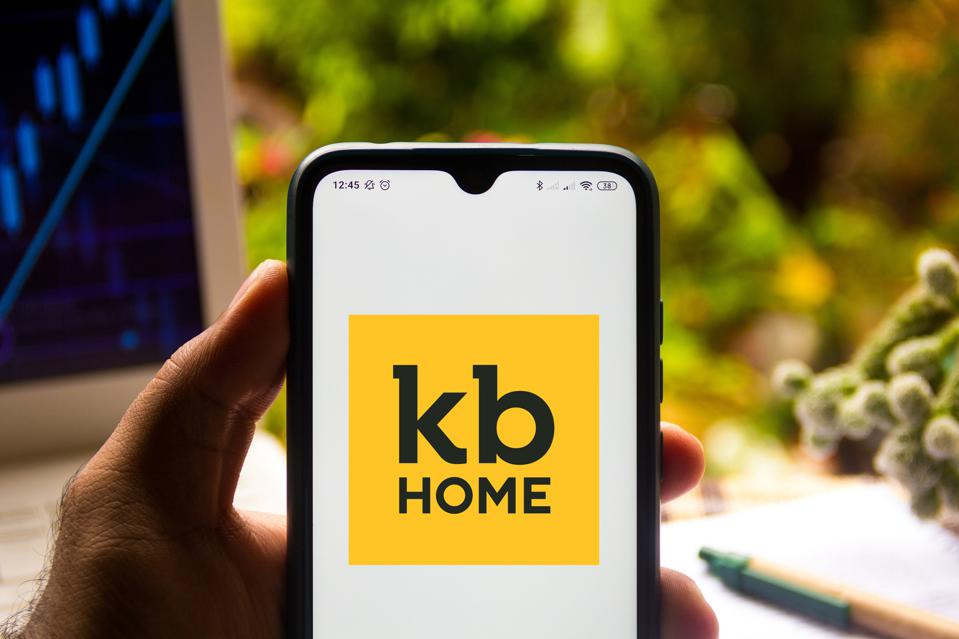 In this photo illustration the KB Home logo seen displayed...